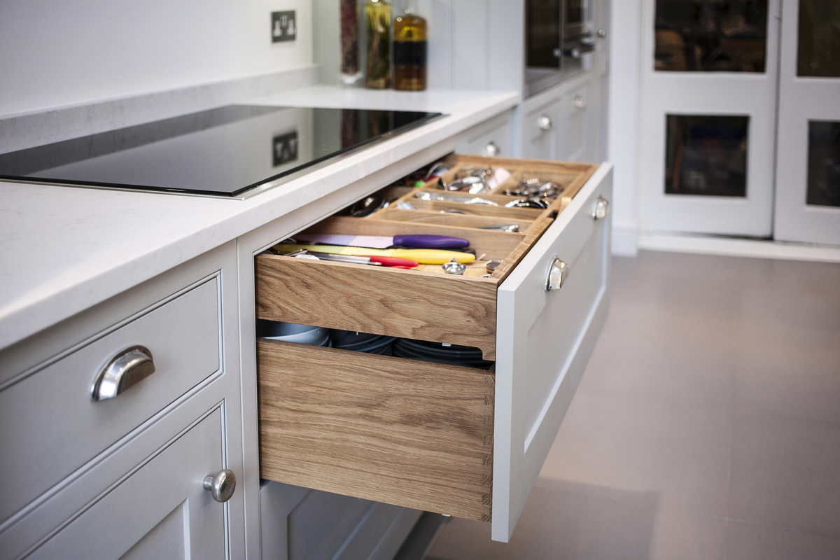 A Double Layer custom built drawer.