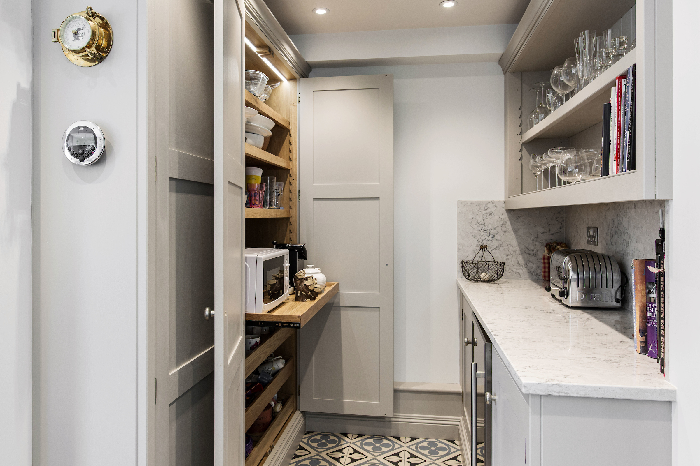 a custom built burlanes walk in kitchen pantry