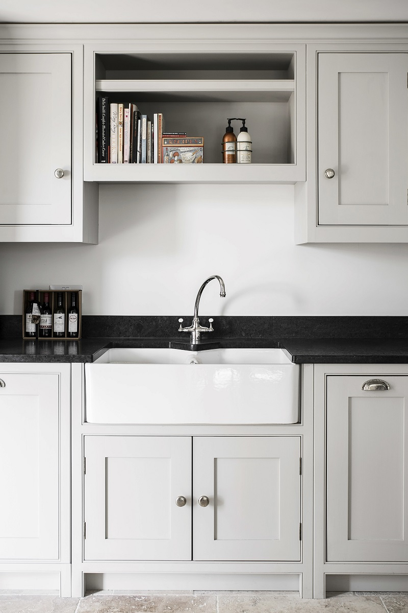 A belfast sink in a country cottage kitchen