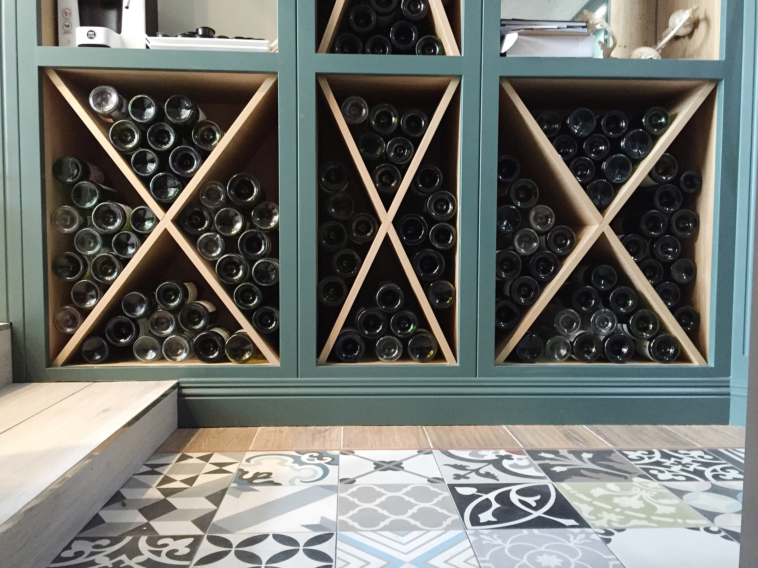A burlanes custom built, handmade wine rack