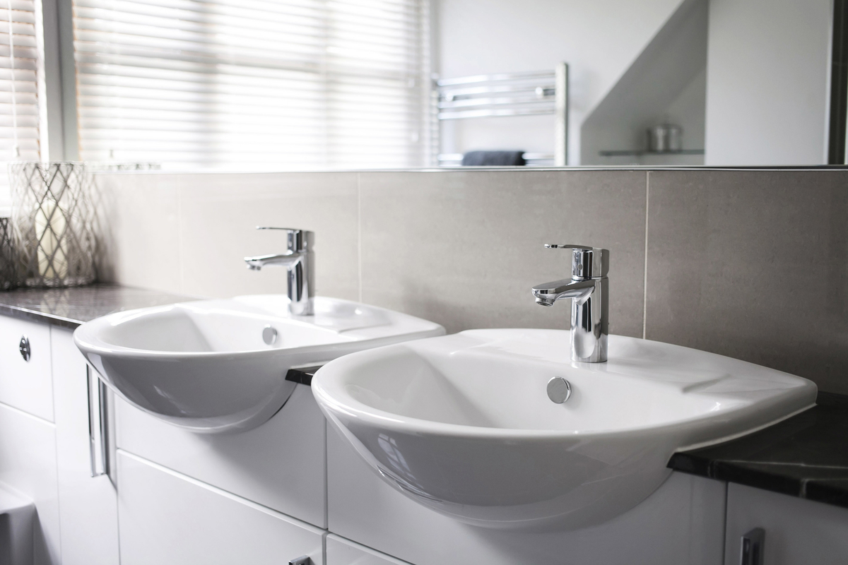 Fit twin basins to ease the morning rush