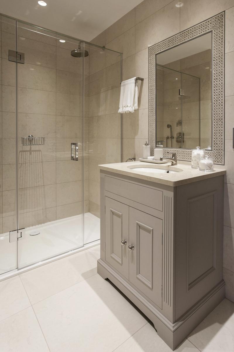 Sink with custom built cupboard