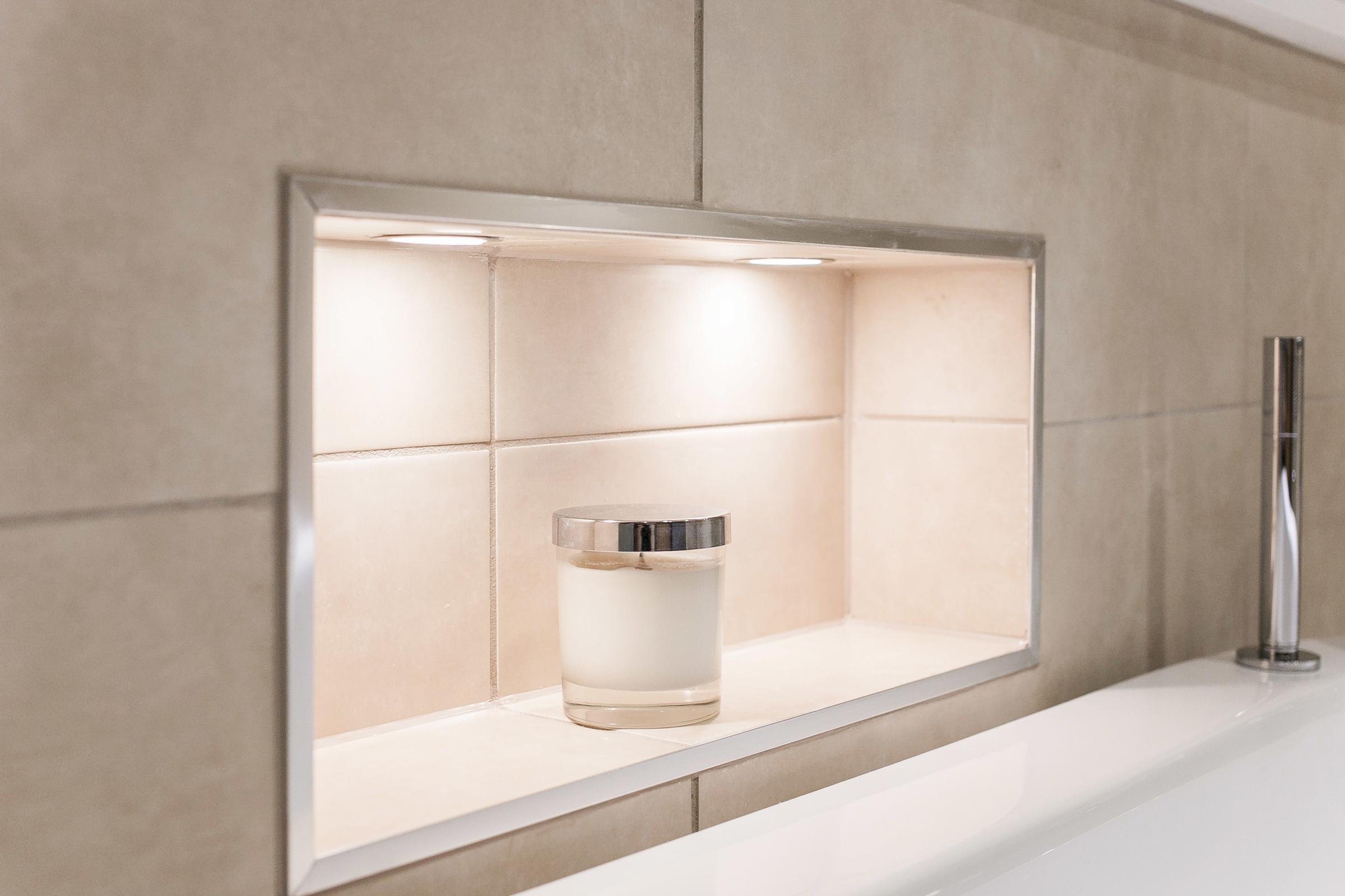 Blissful bathroom design from burlanes bathroom - Porta bagnoschiuma doccia ...