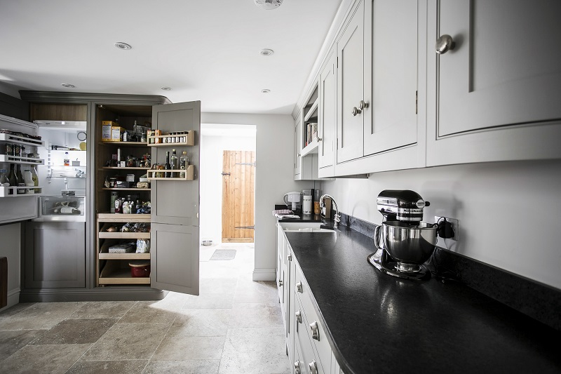Burlanes sleek worktops add a modern touch