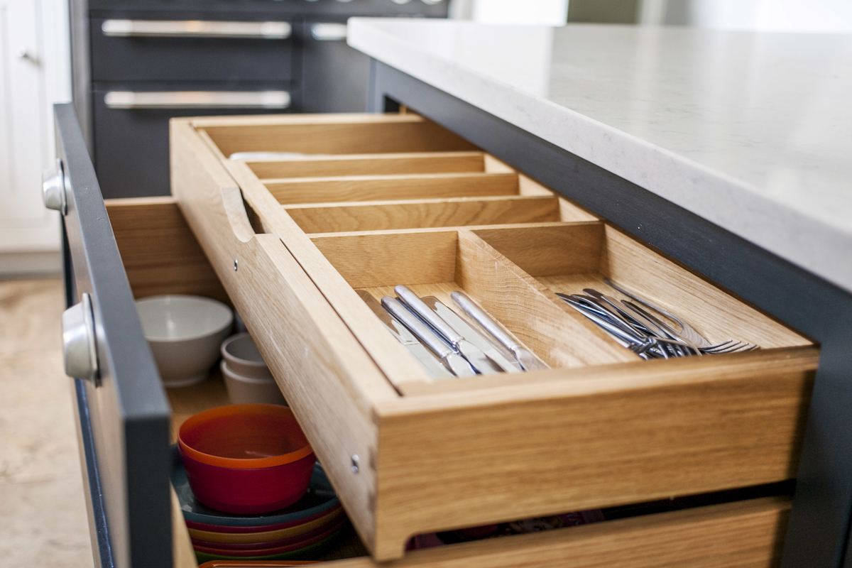 Burlanes custom made cutlery drawer.