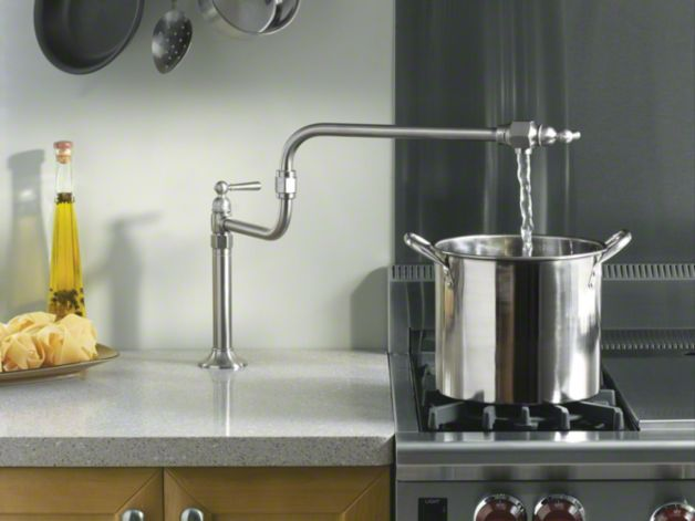 Fill Your Pots Right Where You Need Them, And Avoid Carrying Heavy, Filled  Pots Across The Kitchen. The Deck Mount Style And Slim Profile Of This  Faucet ...