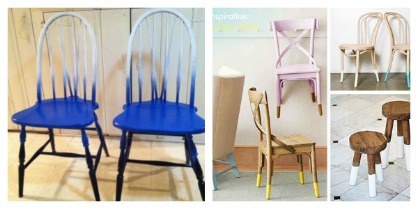Ombre chairs up-cycling chairs.