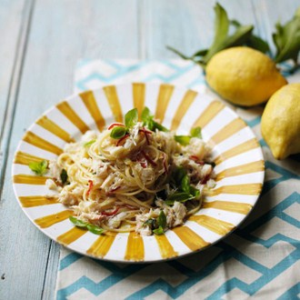 Crab & Lemon Linguini