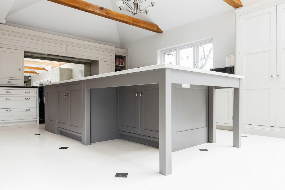 organised, functional and modern kitchen design for a new build