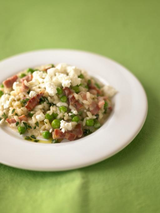 Jamie Oliver's Pea and Goats Cheese Risotto
