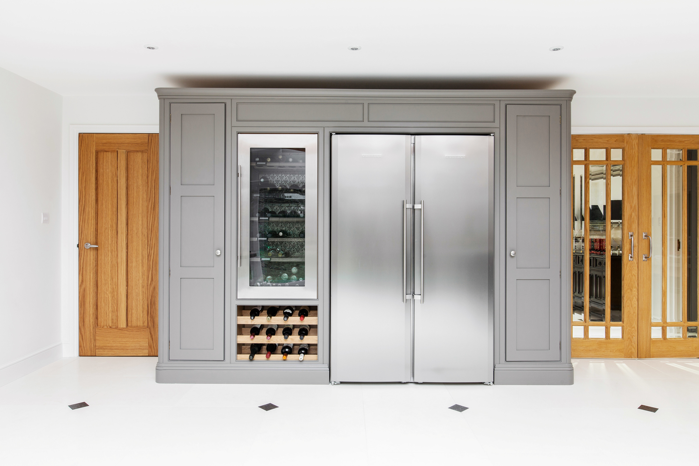 wine cooler and red wine storage