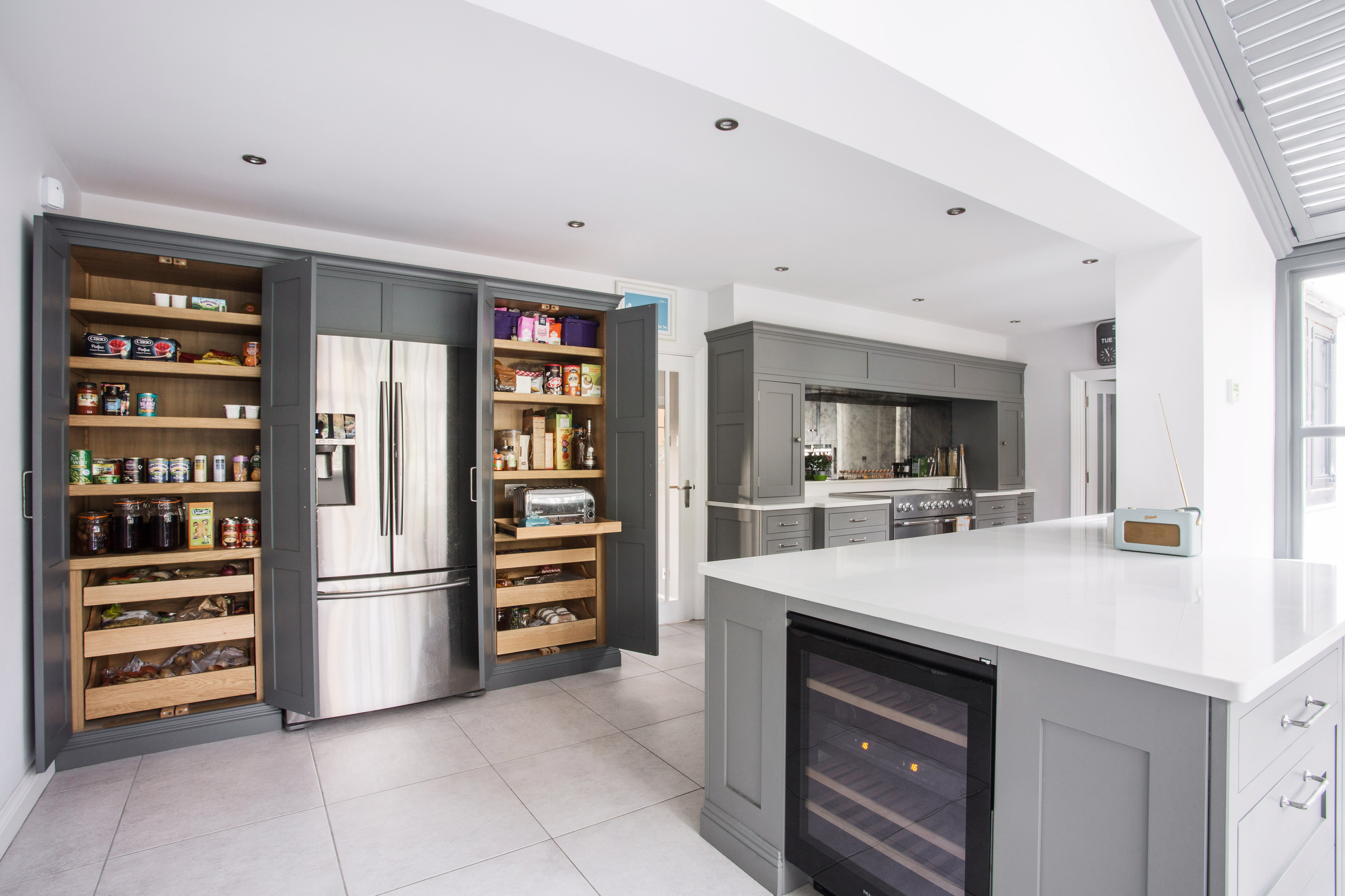 Large Drawers In Each Larder Provide Lots Of Storage Space For Fresh  Vegetables.