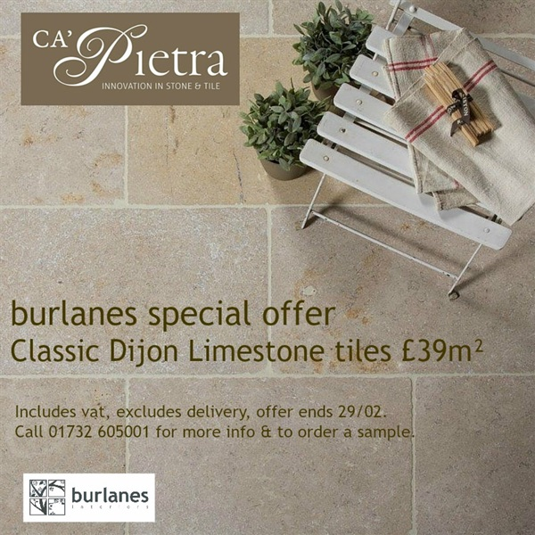Classic Dijon Limestone Tile - SPECIAL OFFER