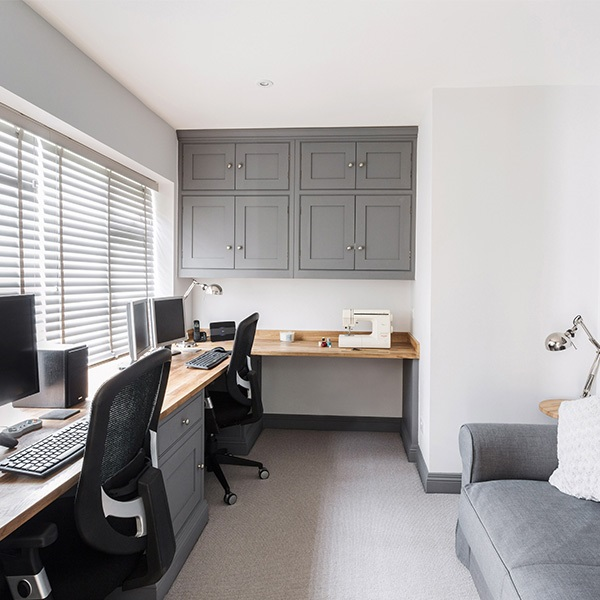 Utilising Storage Space In A Cosy Home Office
