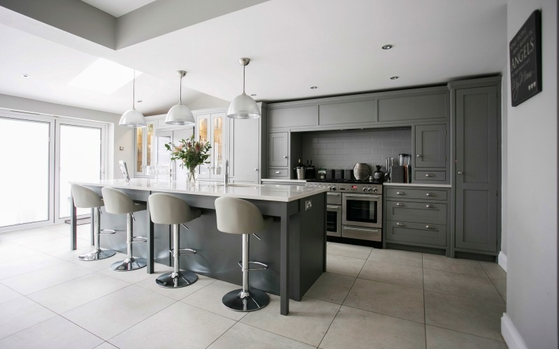 Sophisticated, Sociable Kitchen