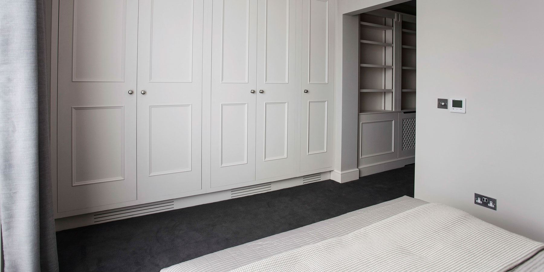 Bespoke Designer Bedroom Storage - Burlanes handmade fitted bedroom wardrobes and storage solutions.