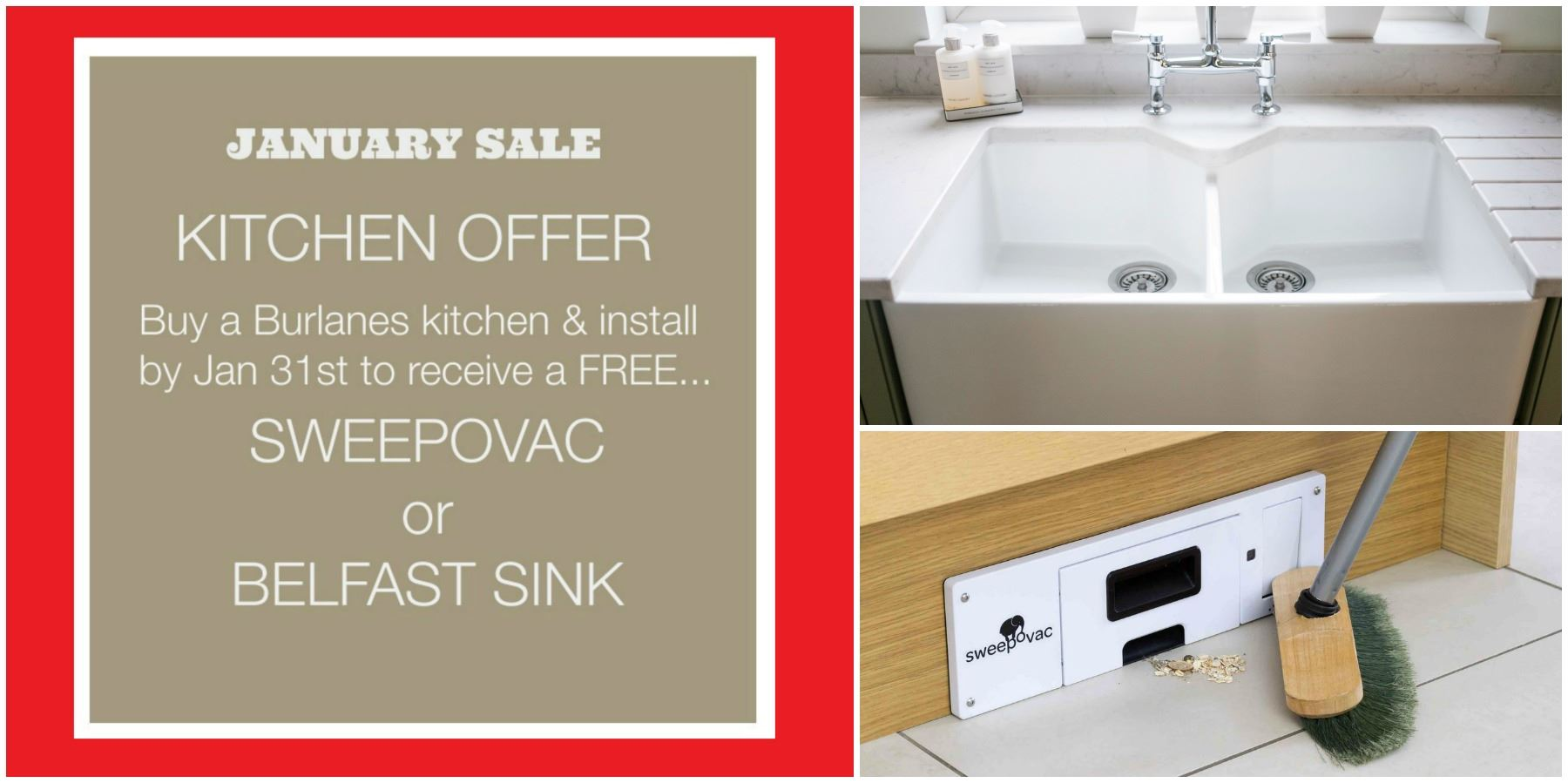 Burlanes Kitchen Offer - January Sale -