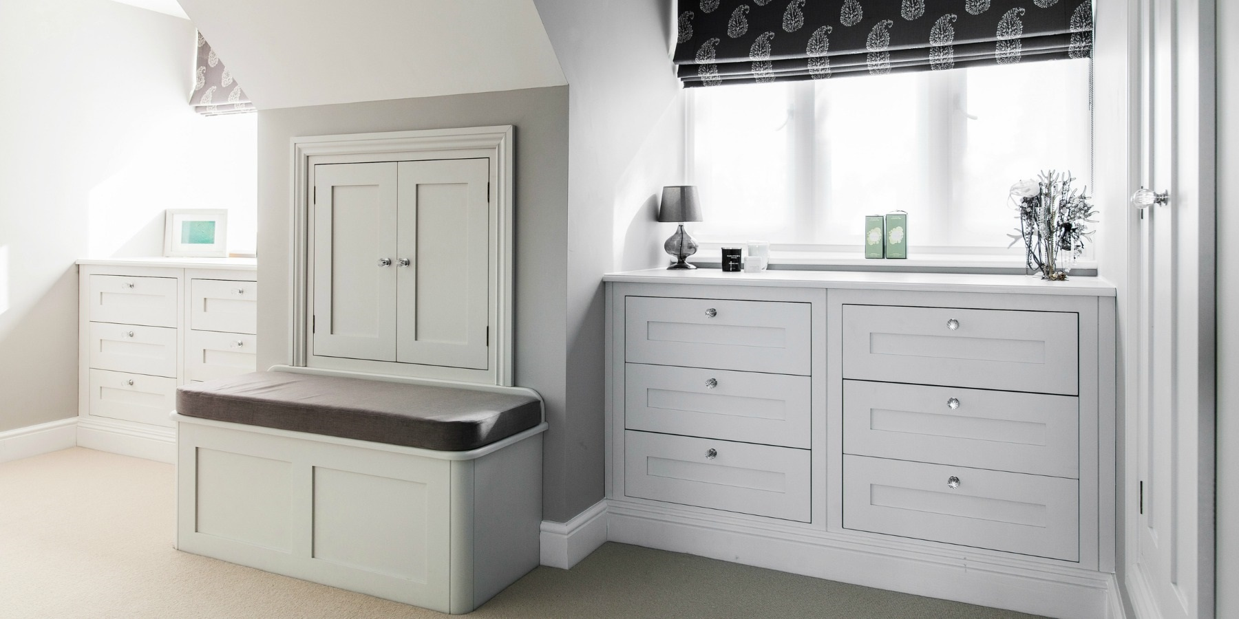 Bespoke His & Hers Bedroom Storage - Burlanes handmade chest of drawers and bedroom storage solutions.