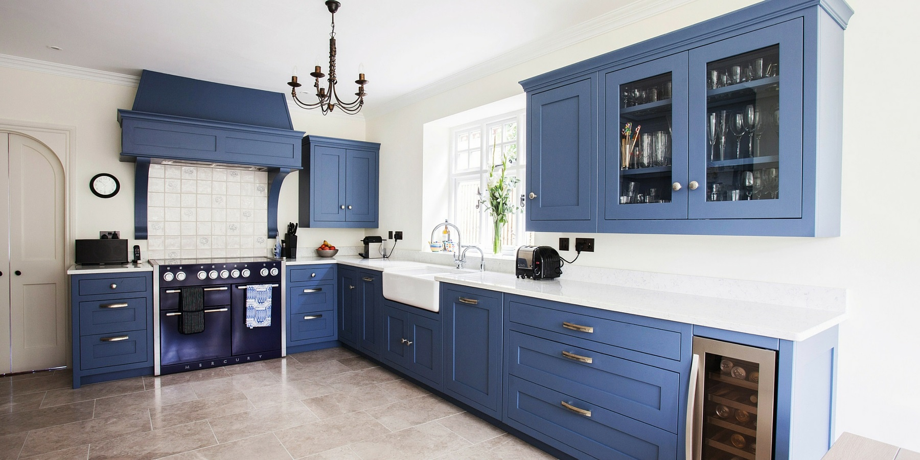 Using colour in kitchen design Kitchen design of sevenoaks