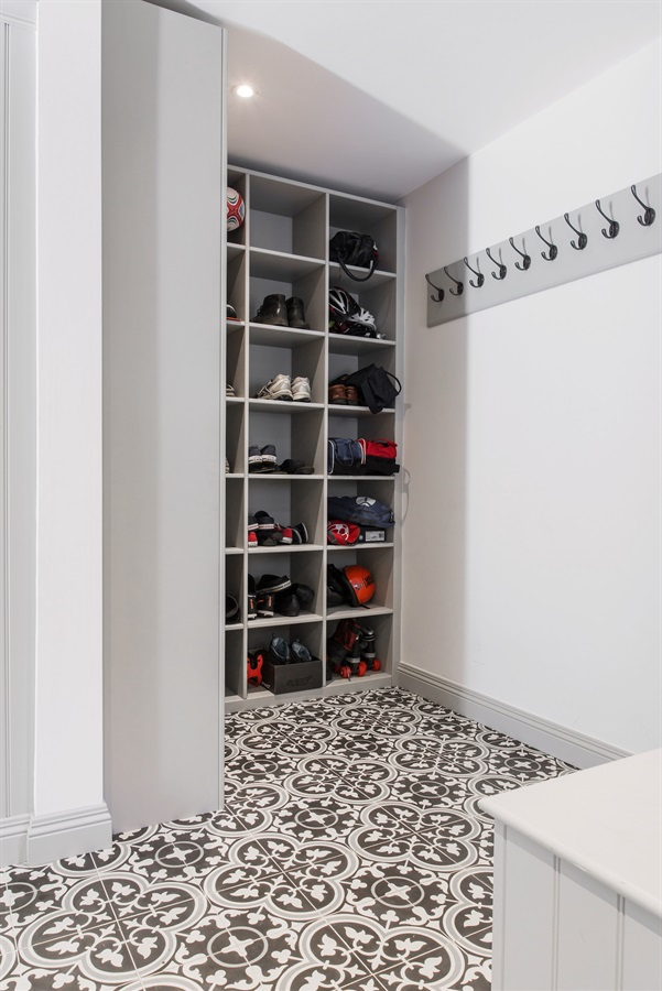 a utility and boot room -
