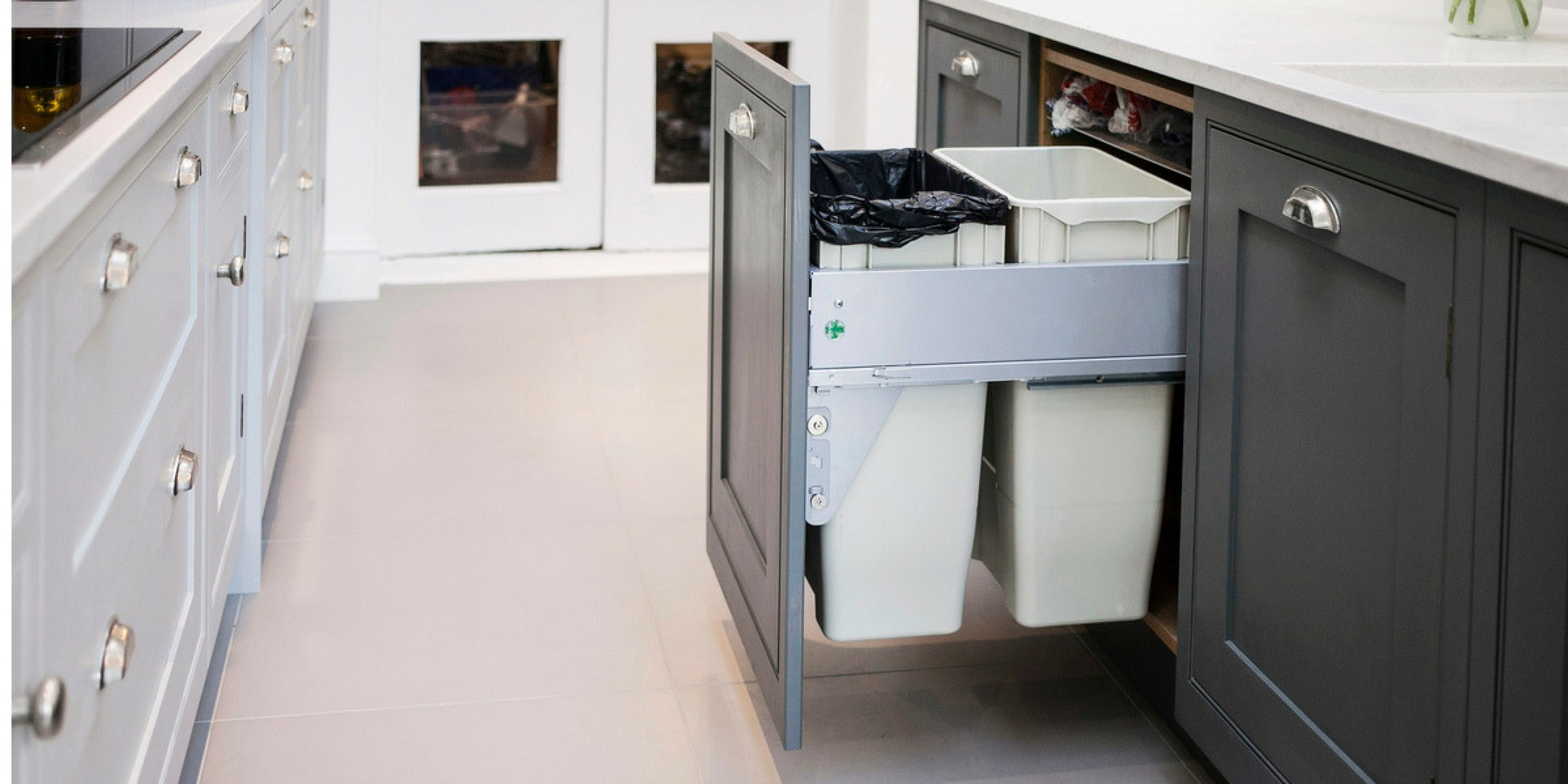 Burlanes Interiors - Integrated bin drawer