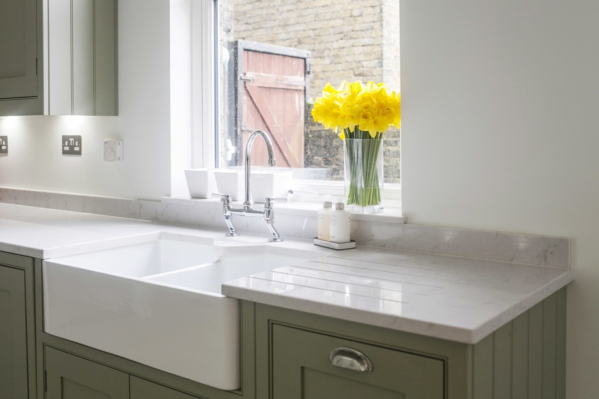 Burlanes Interiors - Dent kitchen sink and tap