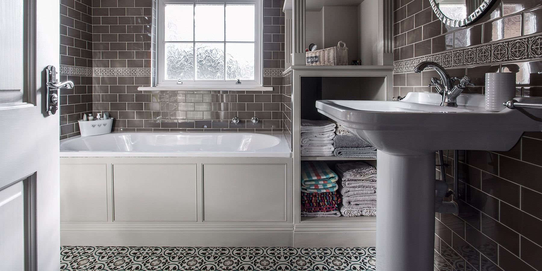 Bespoke Family Bathroom Design - Burlanes handmade bathroom storage solutions.