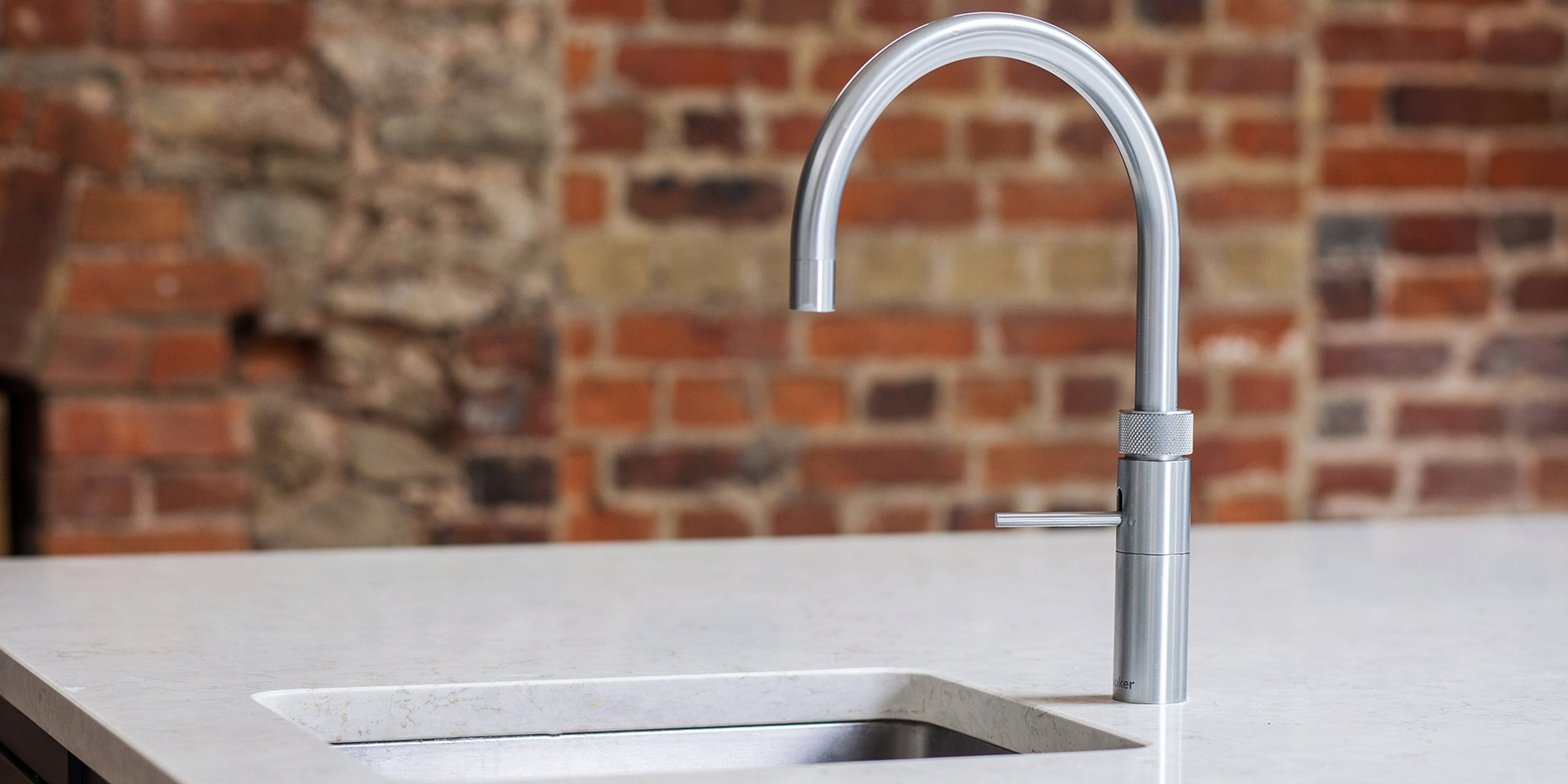 Quooker Fusion Boiling Water Tap. - Burlanes kitchen with Quooker Fusion boiling water tap.