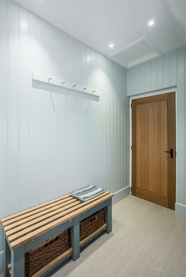 Wet Room Design - Burlanes bespoke wet room furniture and storage bench.
