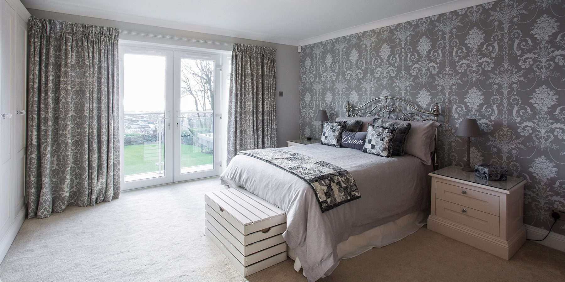 A Sophisticated & Chic Bedroom & En Suite With Incredible Sea Views