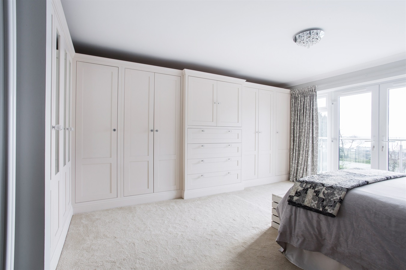 Burlanes Bespoke Bedroom Furniture & En-suite - Burlanes were commissioned to design and handmake beautiful fitted bedroom furniture and wardrobes, with lots of storage space.