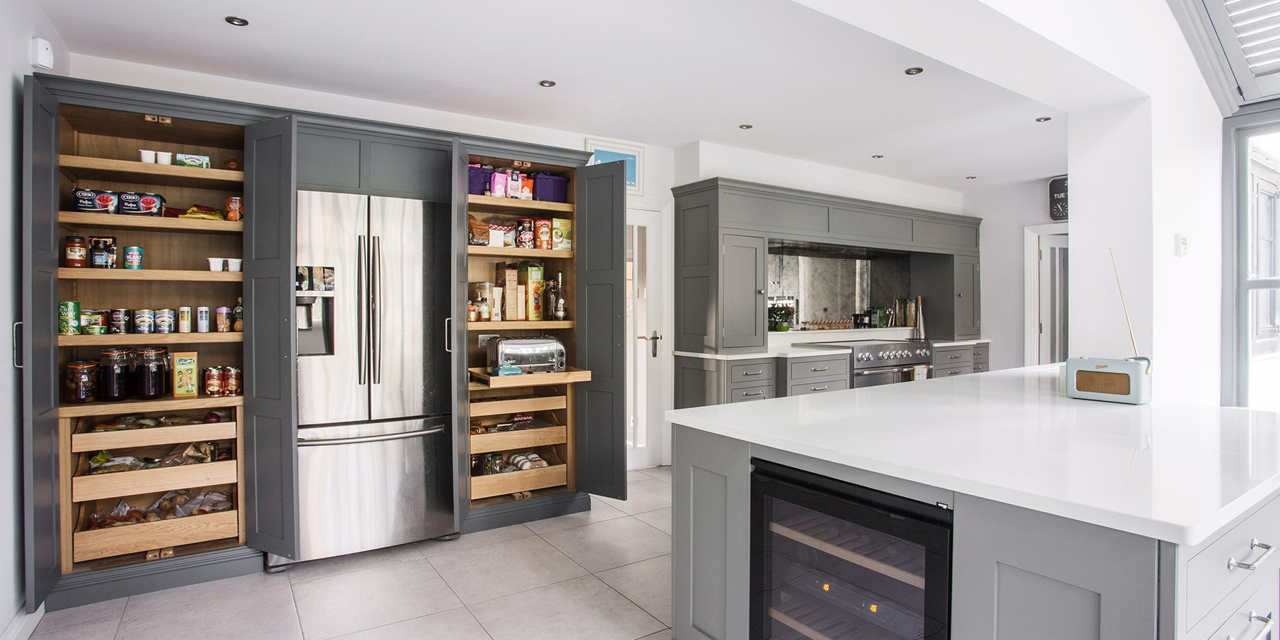 Burlanes | Bespoke, handmade kitchen larders  - Burlanes design and handmake kitchen larders to suit all kitchen styles, sizes and dimensions.