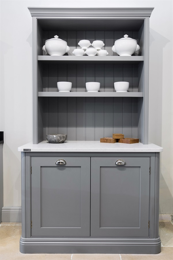 Bespoke Shaker Kitchen Dresser - Burlanes Sevenoaks is located in the heart of Sevenoaks, Kent, and showcases a range of our handmade kitchens, bathrooms, wardrobes and beautiful freestanding pieces of furniture for the home.