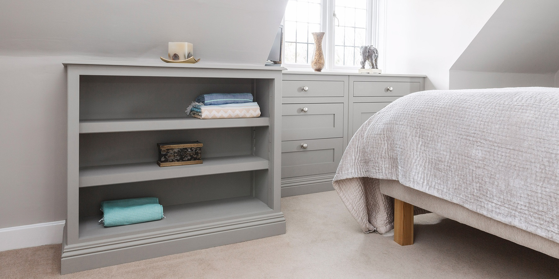 Bespoke Designer Bedroom Storage  - Burlanes handmade bedroom furniture and storage shelving.