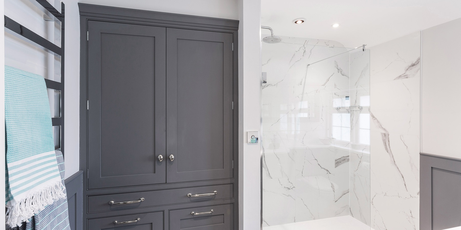 A Master Dressing Room & En Suite Transformation - The homeowners commissioned Burlanes to transform a number of rooms in their home.
