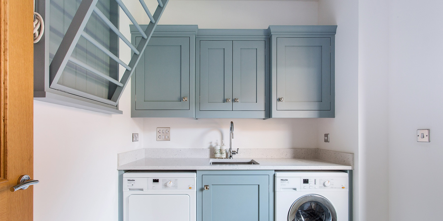 Handmade Utility Room Furniture  - Burlanes bespoke utility room furniture with sheila maid and storage solutions.