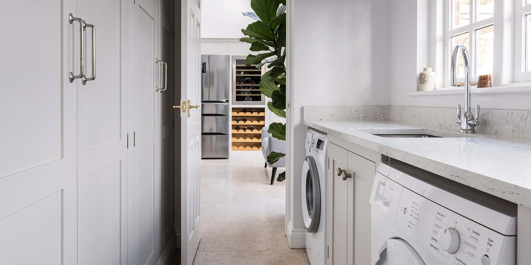 Bespoke, handmade utility room and storage solutions - Handmade utility room furniture with bespoke storage solutions.