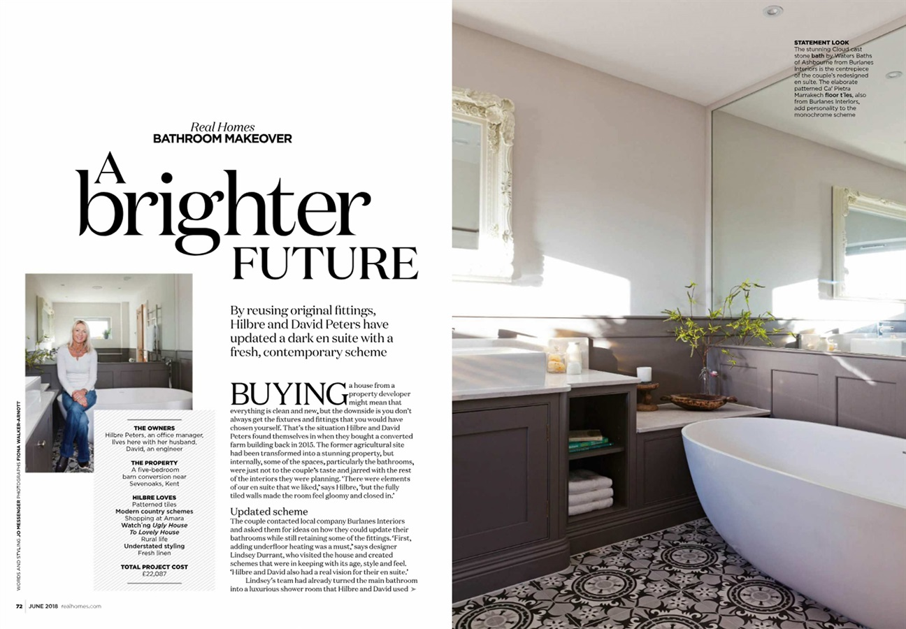 A Burlanes Bathroom Featured In Real Homes Magazine - A Burlanes Bathroom Featured In Real Homes Magazine