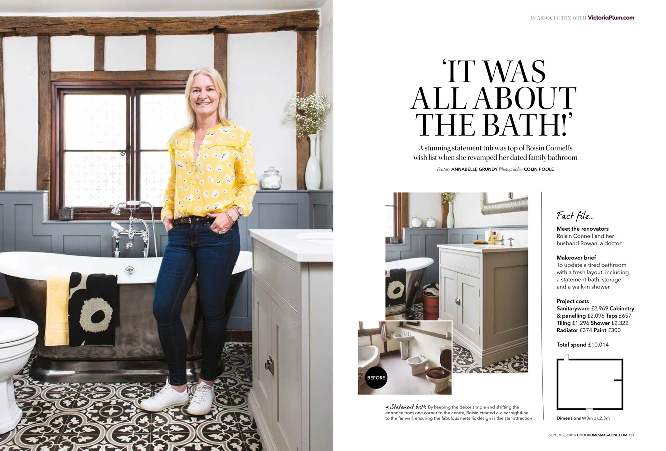 A Burlanes Bathroom Featured In Good Homes Magazine - Burlanes bespoke bathroom featured in Good Homes Magazine September 2018