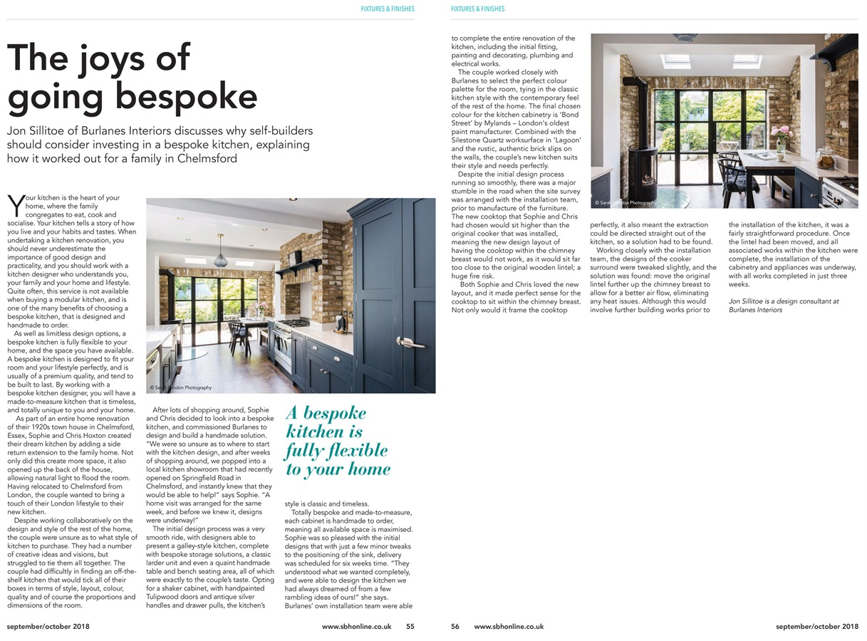 Burlanes Hoyden Kitchen Featured In Self Build & Homemaker Magazine - Our Wellsdown kitchen featured in September's Self Build & Homemaker Magazine.