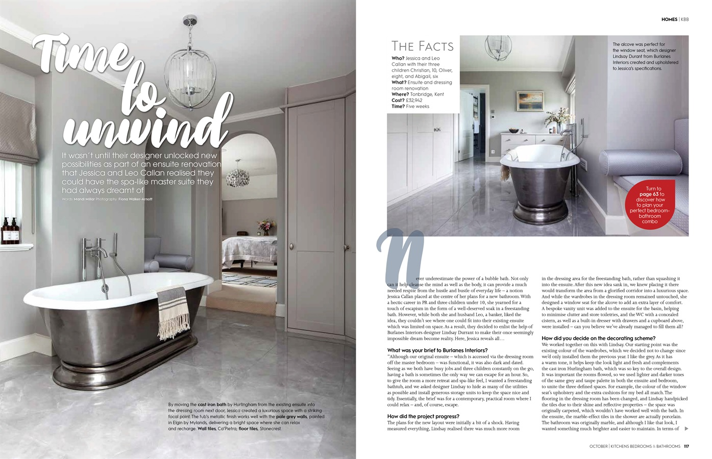 Kitchens bedrooms & Bathrooms Magazine - Burlanes Bespoke Bathroom Furniture Featured in Kitchens Bedrooms & Bathrooms Magazine