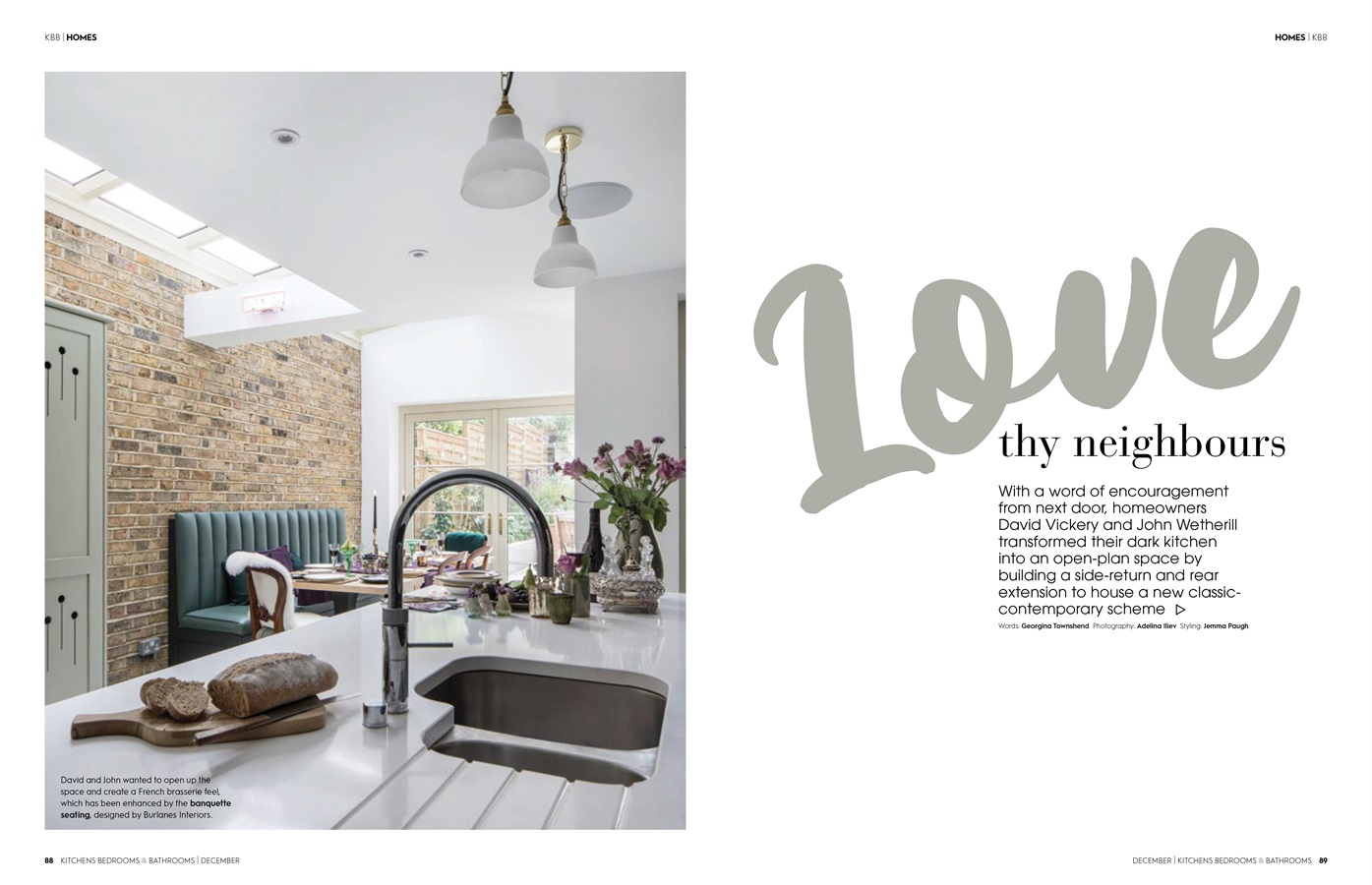 Burlanes Hoyden Kitchen Featured In Kitchens Bedrooms & Bathrooms Magazine - Burlanes bespoke Hoyden kitchen in Crystal Palace, London, featured in Kitchens, Bedrooms & Bathrooms magazine.