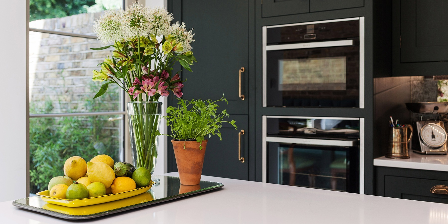 Burlanes Hoyden Kitchen - Handmade Burlanes Hoyden kitchen handpainted in Studio Green by Farrow & Ball.