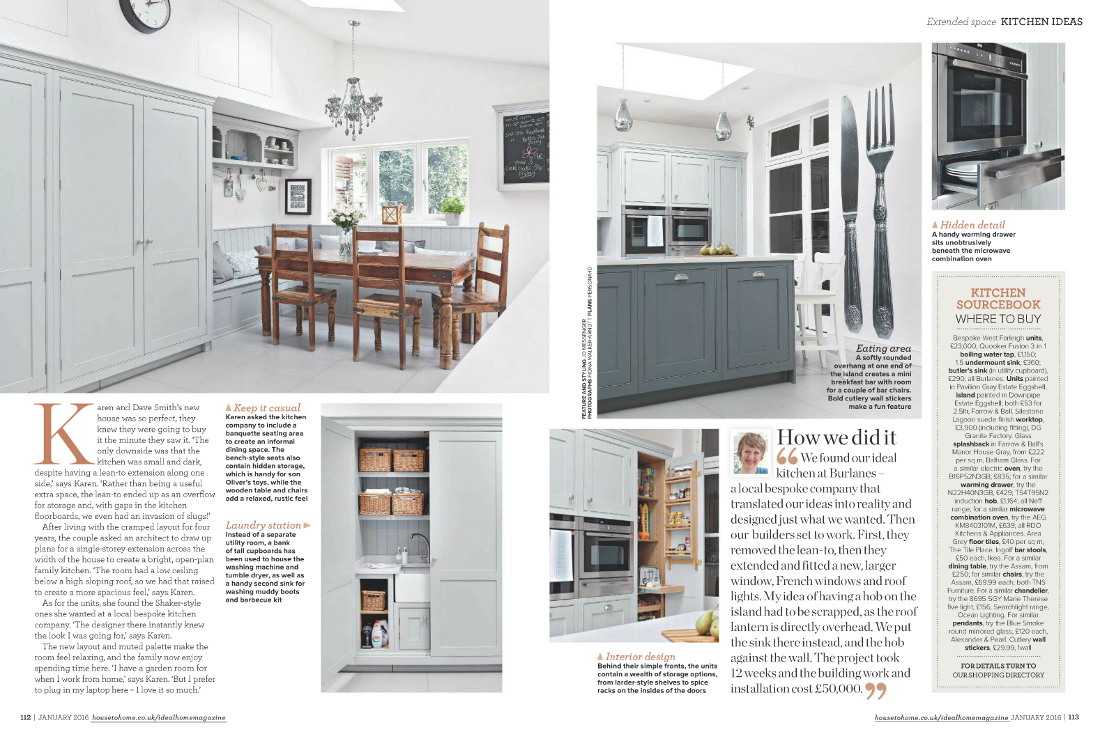Burlanes kitchen in Ideal Homes Magazine