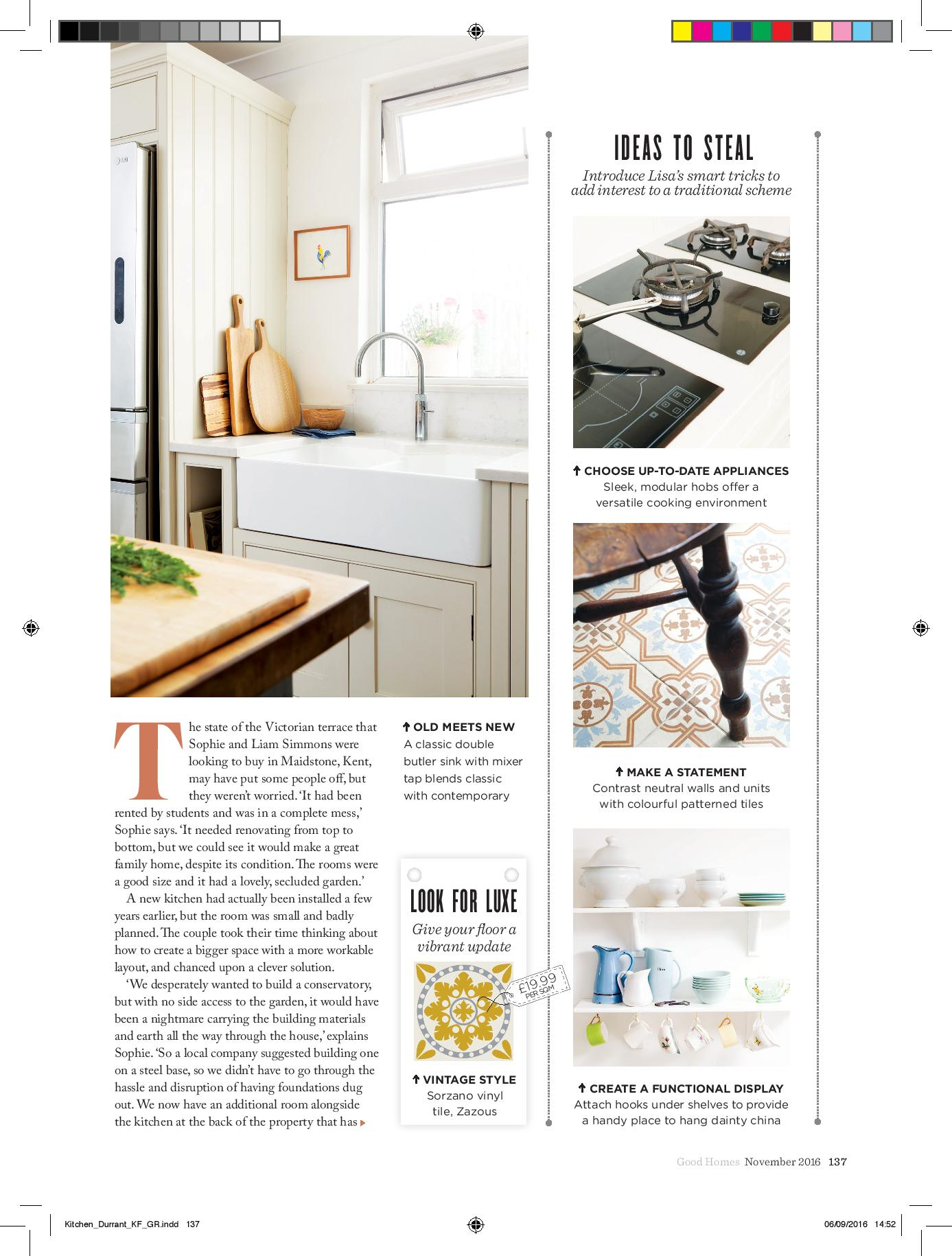 burlanes kitchen in Good Homes Magazine